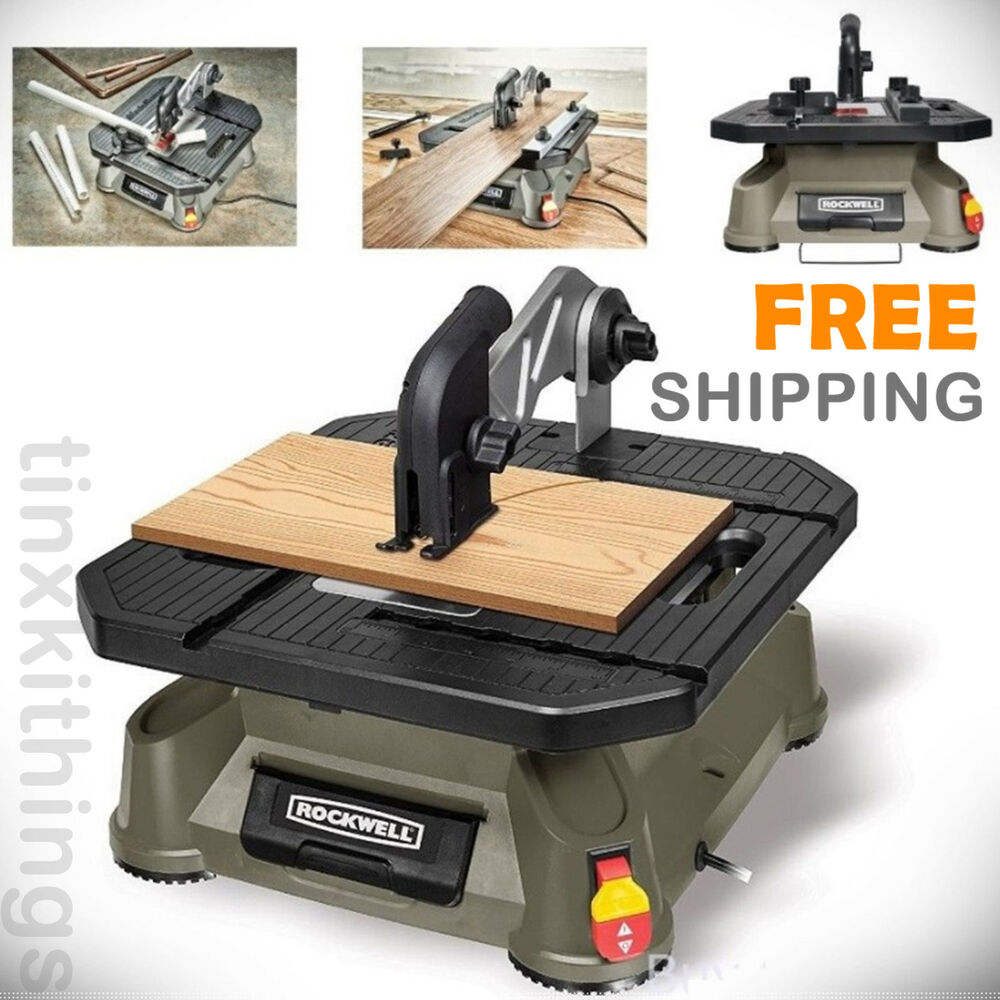 Portable Table Top Saw Compact Cutting Machine Wood Work Small Blade Gauge Tool Ebay