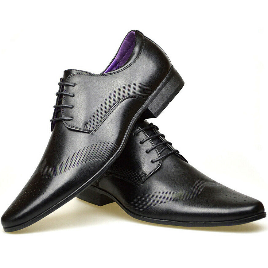 699992018c4e Details about Mens Brown Shoes Boys Faux Suede Brogue Oxford Casual Party  Dress Work Formal
