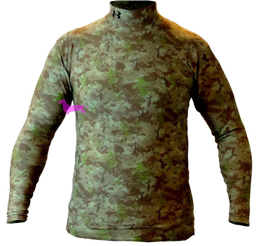 Under armour cold gear camo digital compression mock men 39 s for Under armour cold gear shirt mens