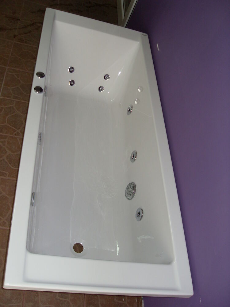 whirlpoolbad badewanne whirlpool 170x70 supero made in eu wanne ebay. Black Bedroom Furniture Sets. Home Design Ideas