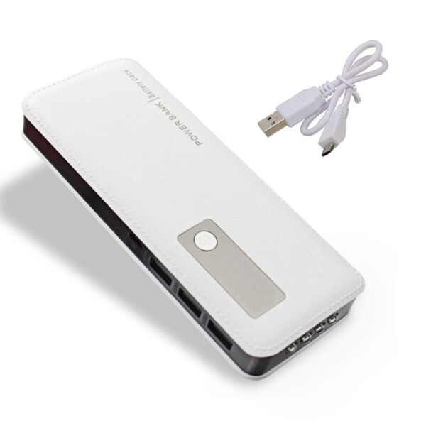 POWER BANK 20000 mAh 3 Porte USB CARICA BATTERIA ESTERNA x SMARTPHONE e TABLET