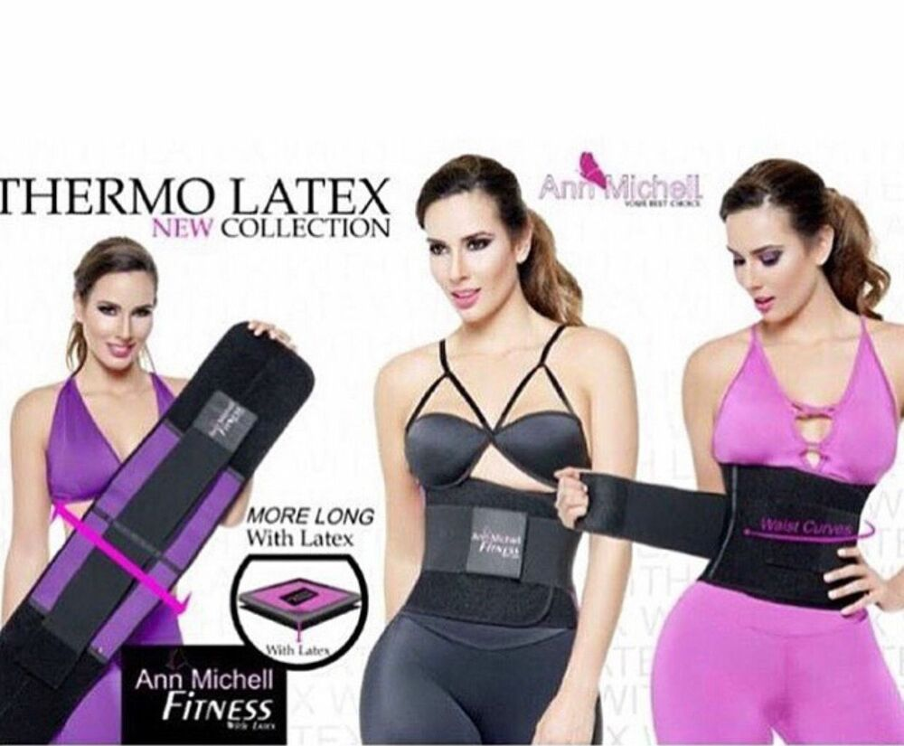 7aeba811a6f5f Details about WAIST TRAINER ANN MICHELL REF. 4025 ORIGINAL WITH LATEX THERMO  REDUCTOR. GYM