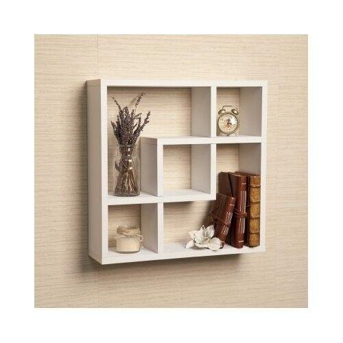 Wall Mounted Wood Shelves ~ Wall mounted floating shelves storage display home decor