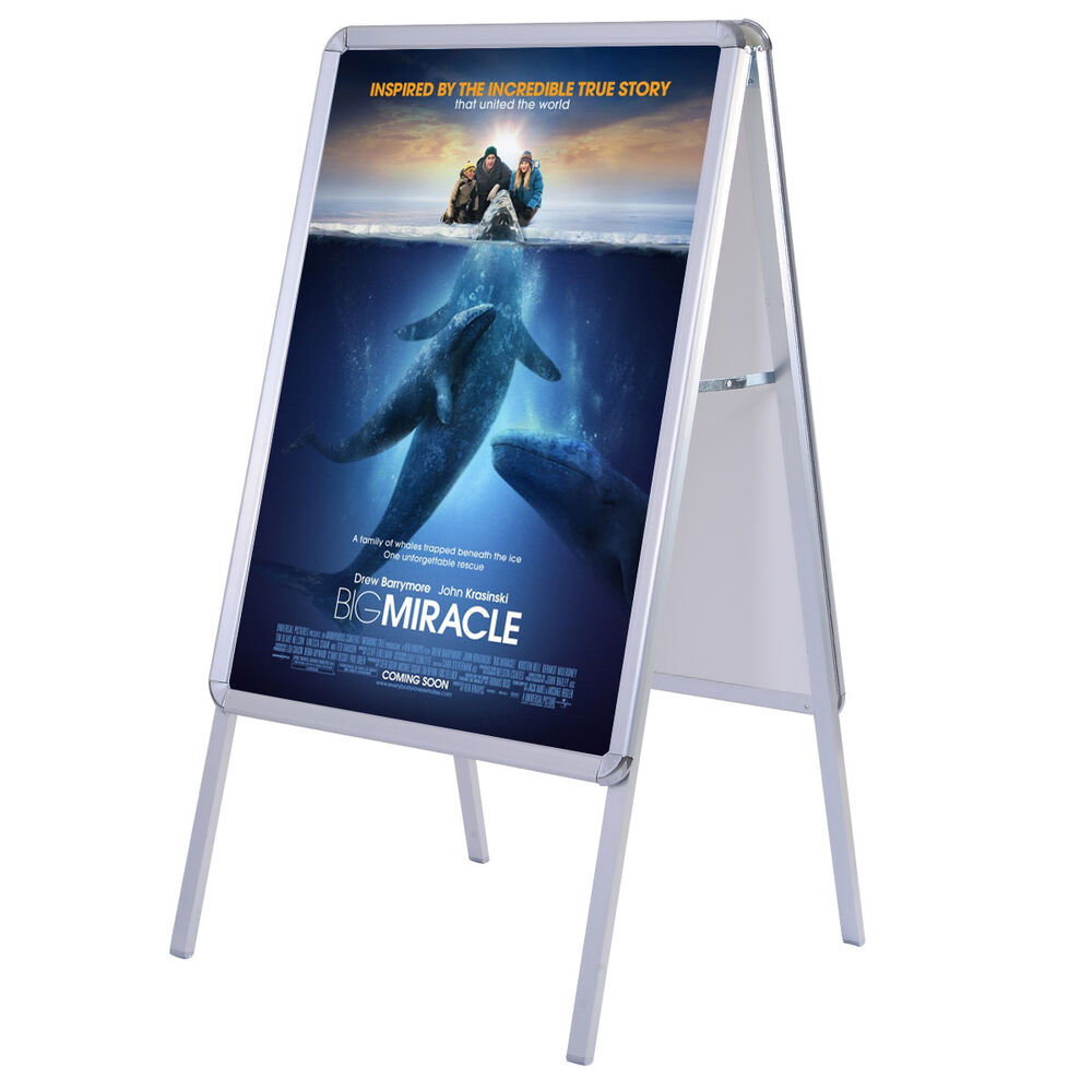 New Portable A Frame Display Snap Board Poster Stand