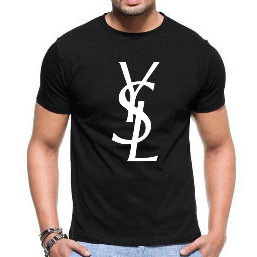 yves saint laurent logo t shirt ebay bronze cardigan. Black Bedroom Furniture Sets. Home Design Ideas