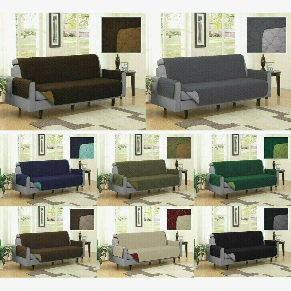 pet couch sofa furniture protector cover black grey ebay