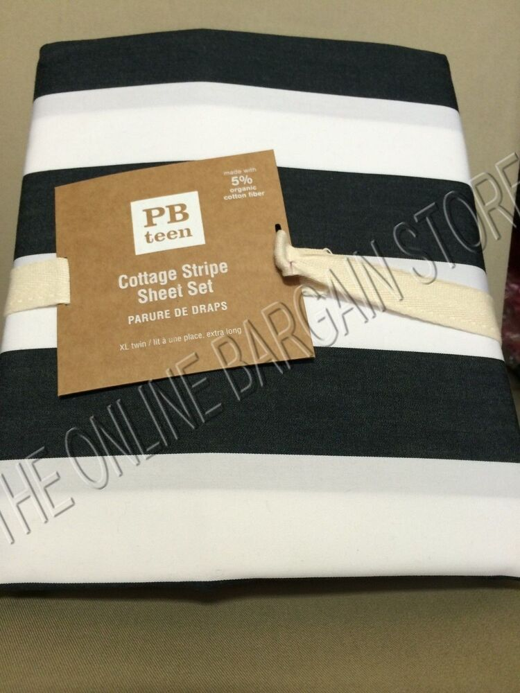 Pottery Barn Teen Cottage Stripe Bed College Dorm Sheets