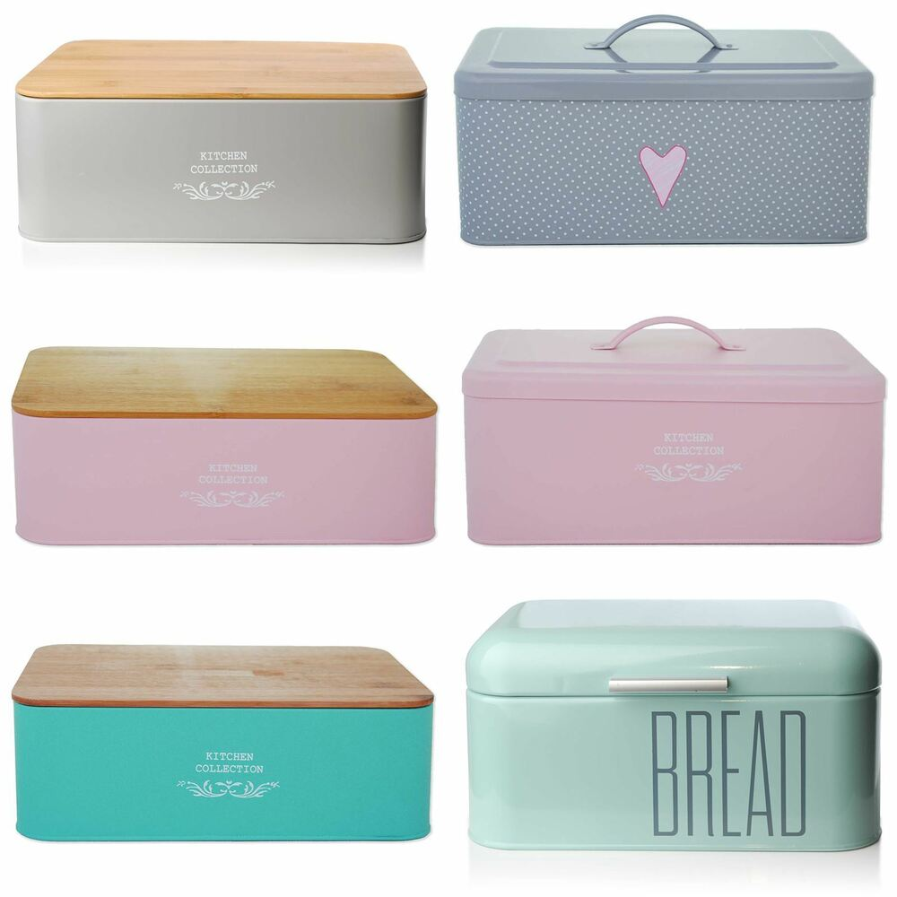 Kitchen Storage Bins: Bread Holder Bin Box Vintage Design Home Kitchen Storage