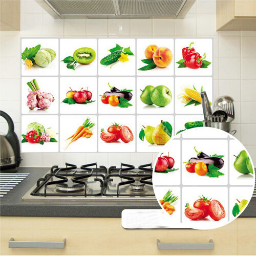 75 45cm Fruit Oilproof Decal Home Decor Removable Wall Stickers Kitchen Ebay