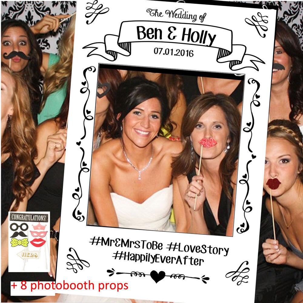 personalised photo booth frame photobooth instagram