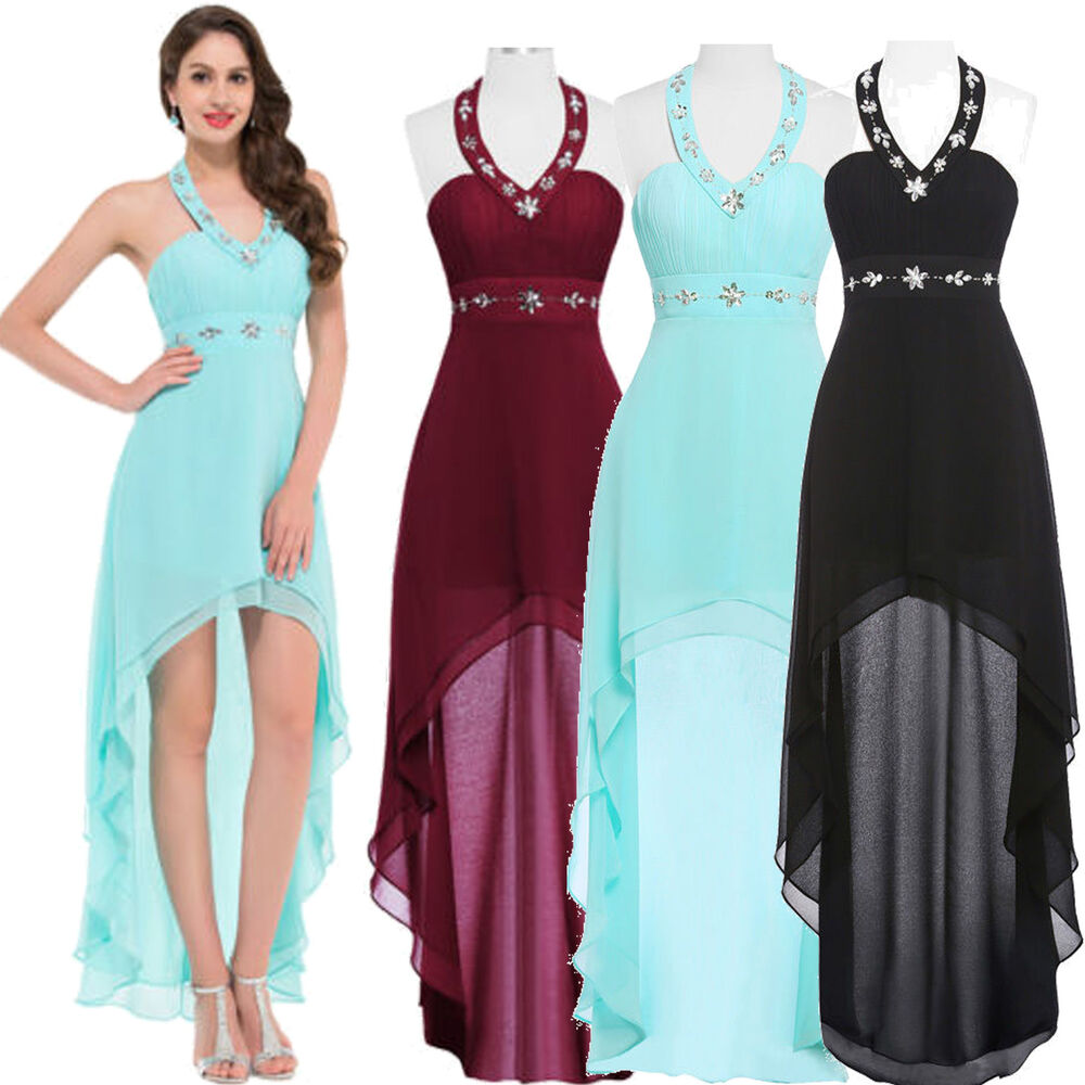 Chiffon Bridesmaid Cocktail Party Dress Formal Evening