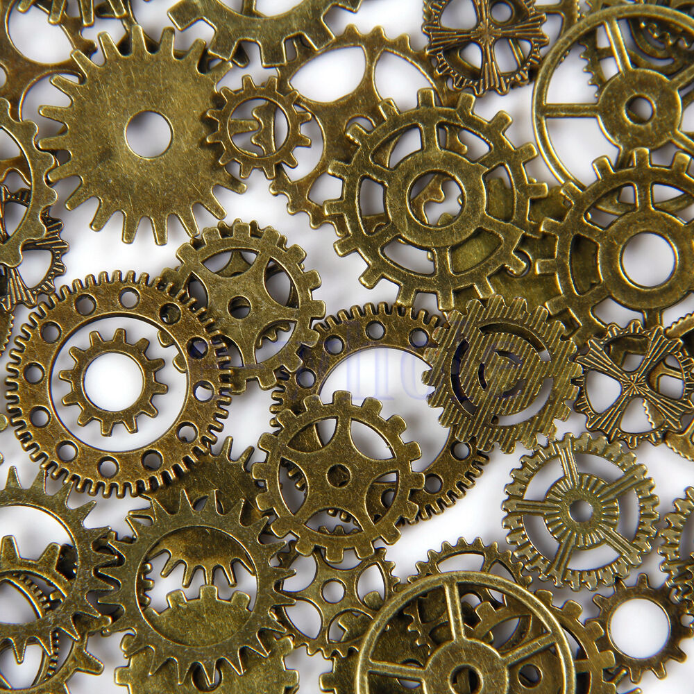 Antique Wheels And Gears : Vintage steampunk watch parts clock gears wheels cogs