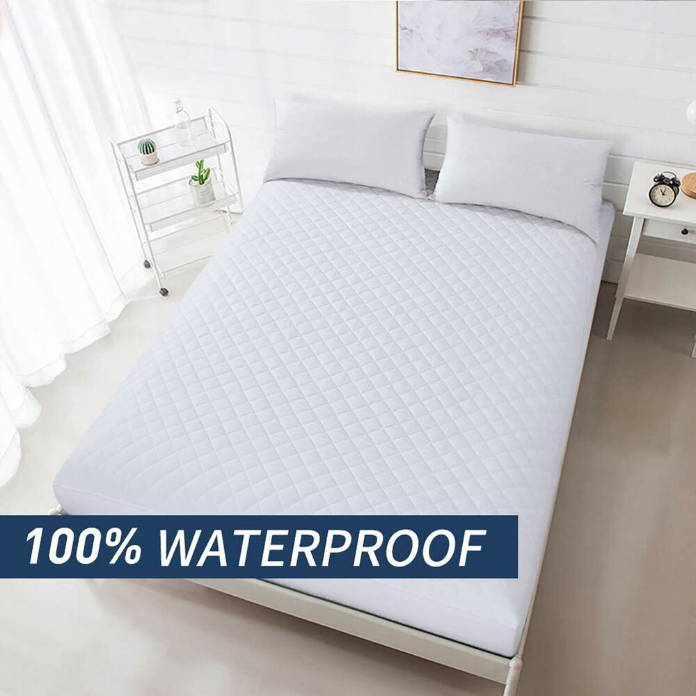Deep Pocket Mattress Protector Waterproof Fitted Pad