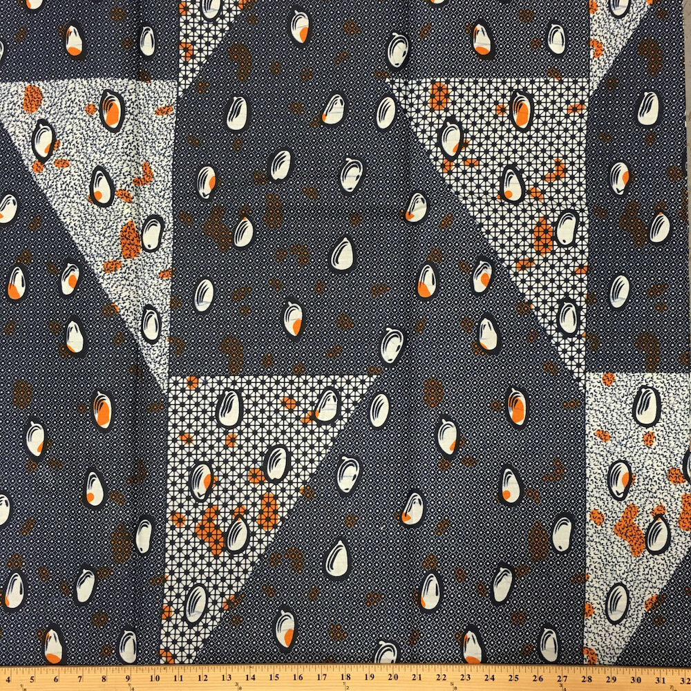 African Print Fabric 100 Cotton 44 Wide Sold By The