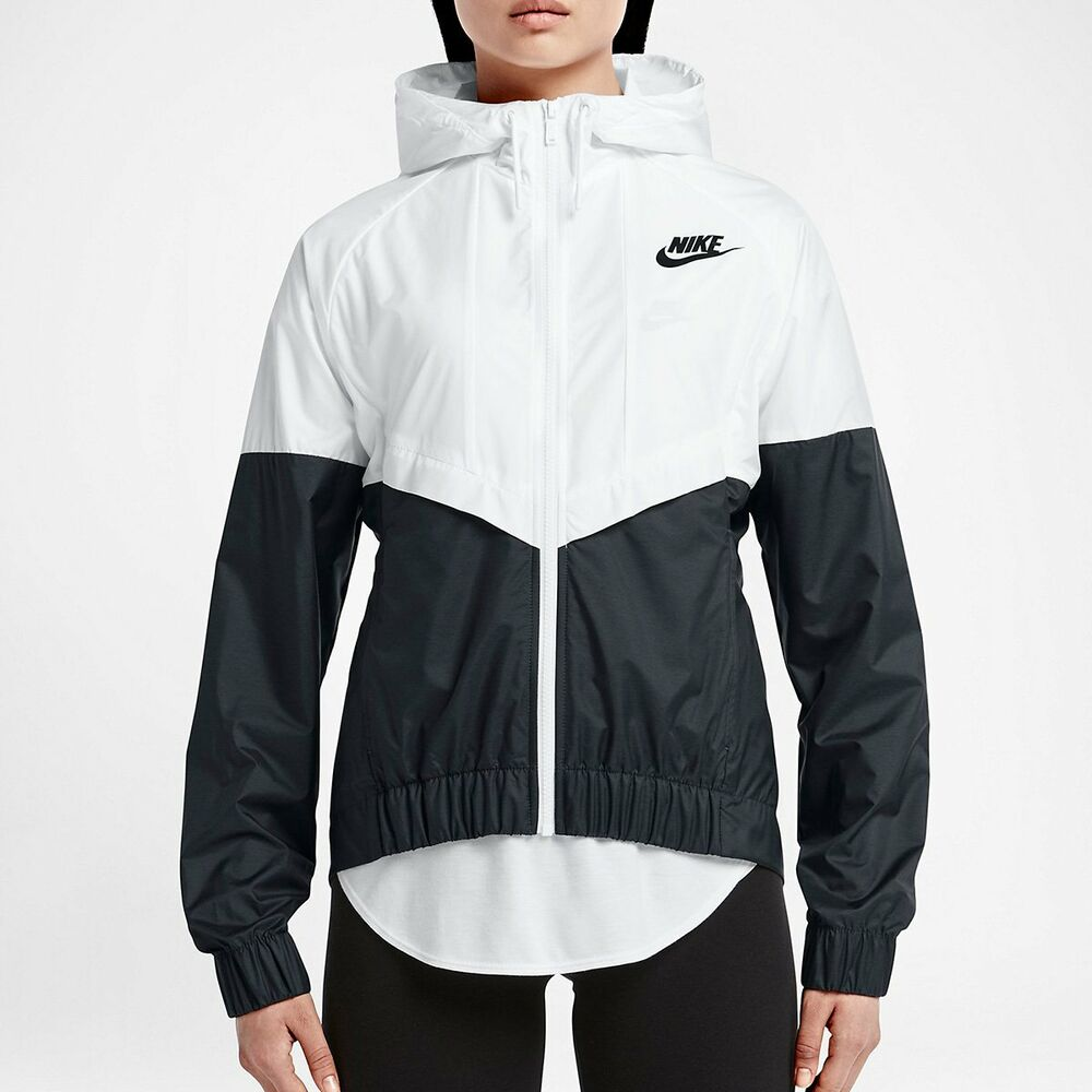 black and white nike jacket womens