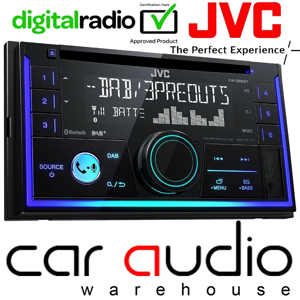 jvc kw db93bte double din dab radio cd mp3 usb aux. Black Bedroom Furniture Sets. Home Design Ideas