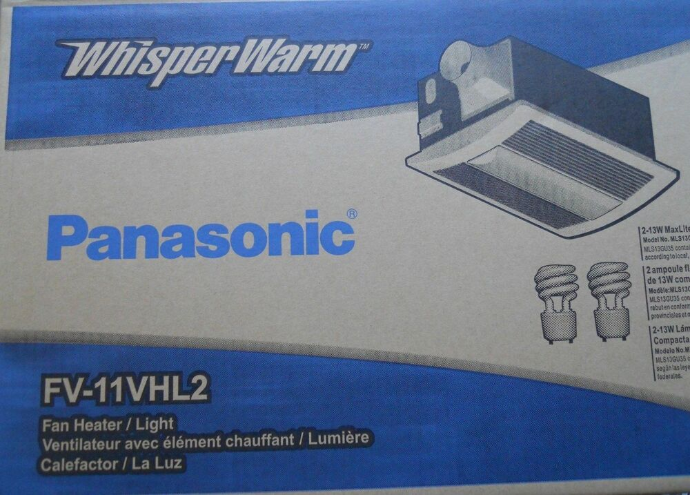 Panasonic bathroom fan heater with light combo fv 11vhl2 110cfm ebay sciox Choice Image