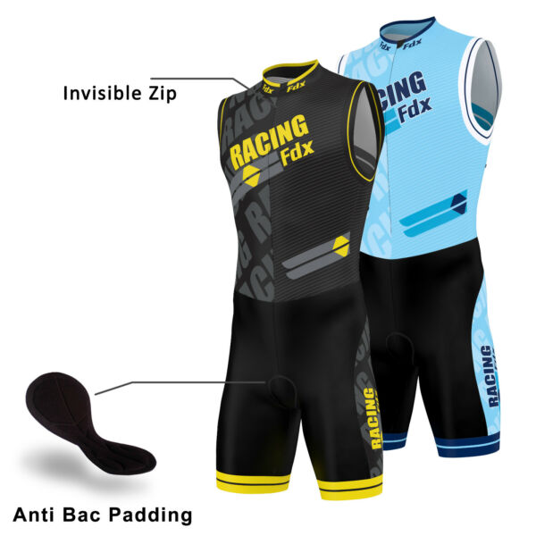 c0ae27a8ac14 FDX Men Triathlon Tri Suit Padded Compression Running Swimming Cycling  Skinsuit