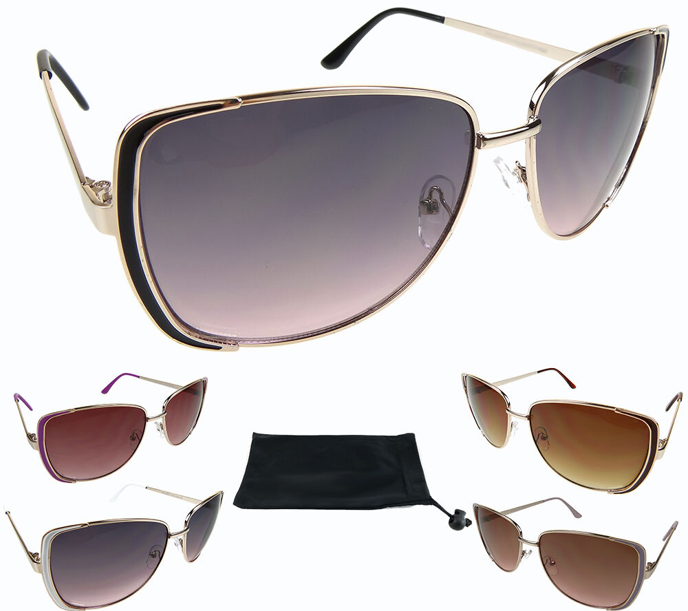 Square Gold Frame Sunglasses : Oversized Square Sunglasses Womens Gold Metal Frame ...