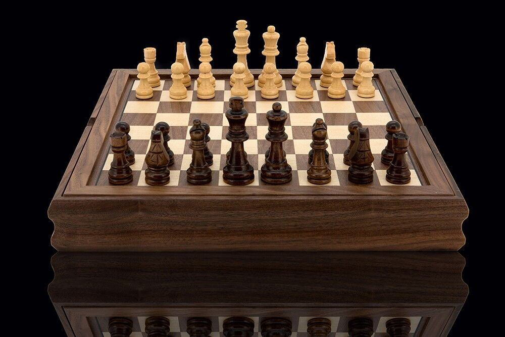 Quality dal rossi wooden chess checkers backgammon walnut Where can i buy a chess game