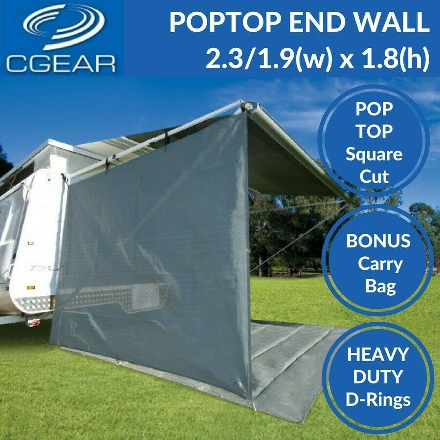 Cgear Pop Top Caravan End Drop Privacy Screen End Wall