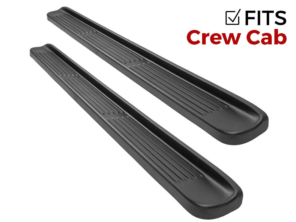 ionic factory style running boards f250 550 crew cab 1999 2016 excursion 2000 05 ebay. Black Bedroom Furniture Sets. Home Design Ideas