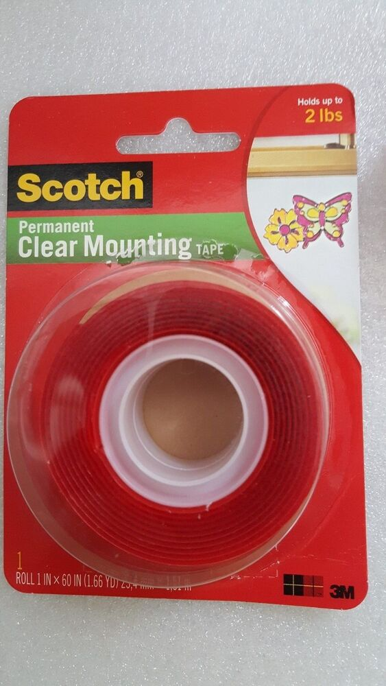 3m Scotch 4010 Permanent Clear Mounting Double Sided Tape