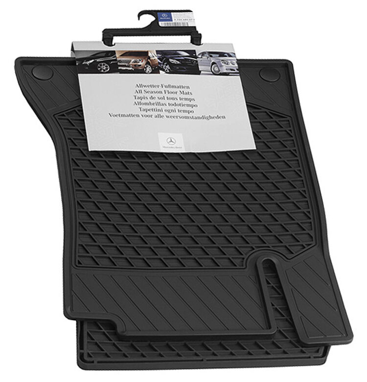 Mercedes benz oem all weather all season floor mats 2012 for Mercedes benz car floor mats
