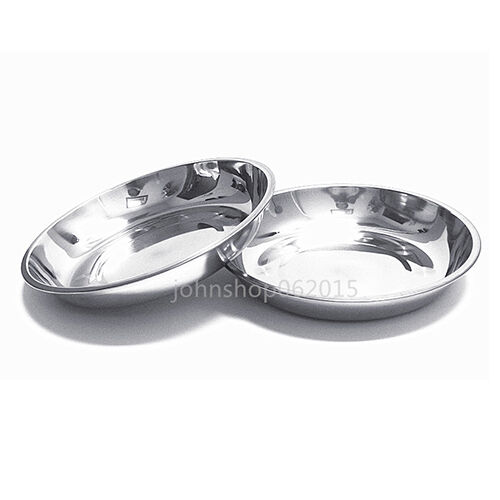 304 stainless steel dinner plate dish 22cm 2pcs new ebay. Black Bedroom Furniture Sets. Home Design Ideas