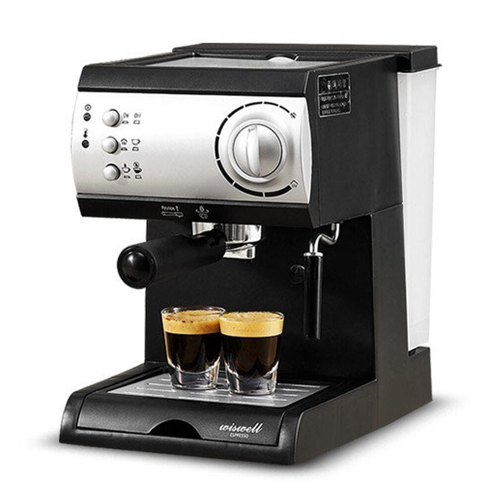 electric semi automatic espresso machine coffee maker latte cappuccino steamer ebay. Black Bedroom Furniture Sets. Home Design Ideas