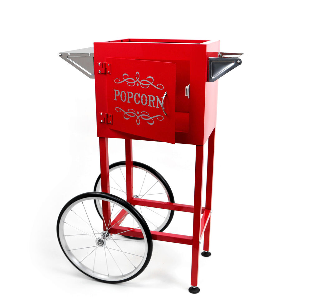 paramount popcorn machine cart trolley section red ebay. Black Bedroom Furniture Sets. Home Design Ideas