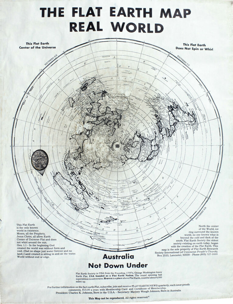The Flat Earth Map Real World | Time Zones Map