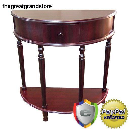 Entryway Half Moon Console Tables Accent Living Room