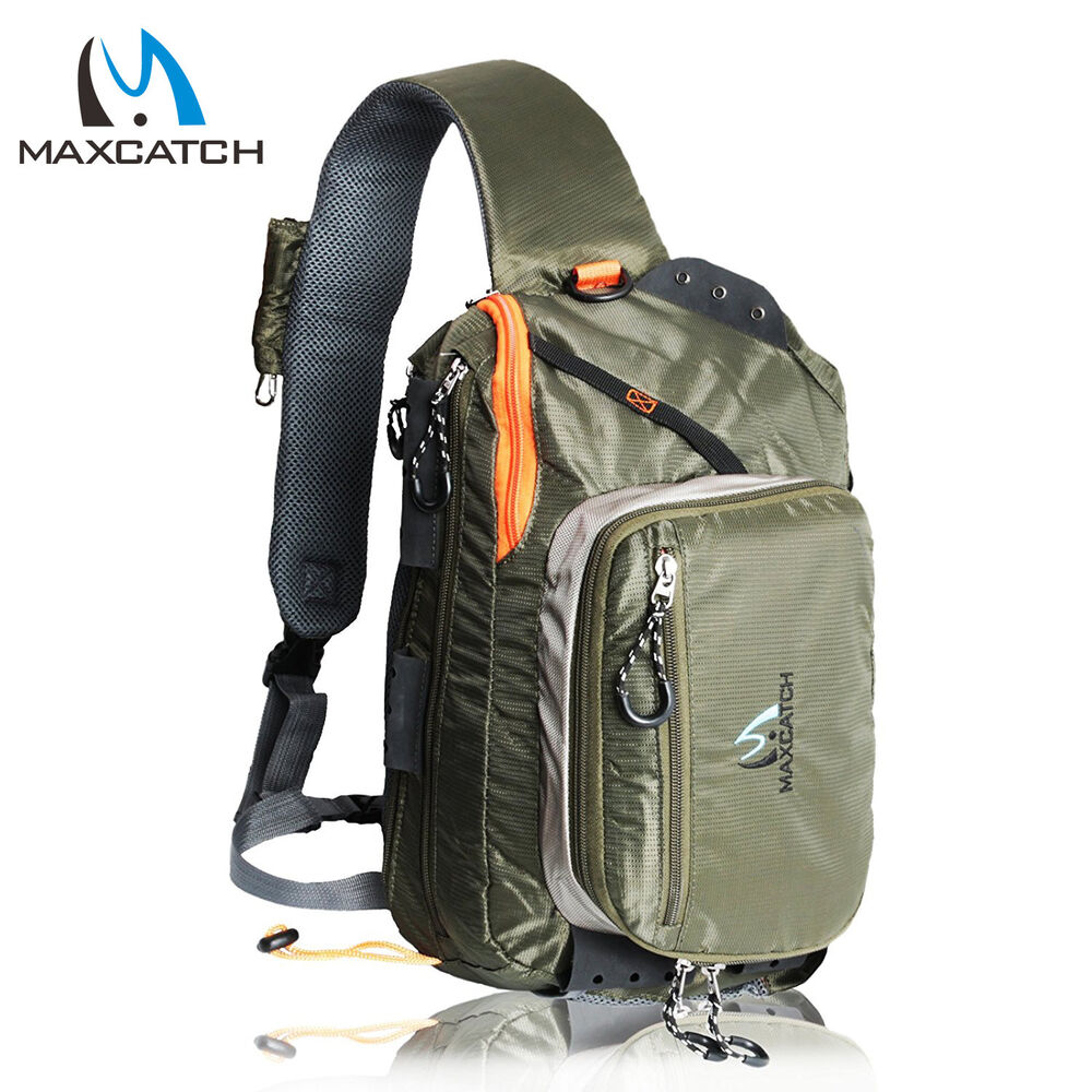 Fishing sling back pack outdoorsport fly fishing sling bag for Fly fishing sling pack