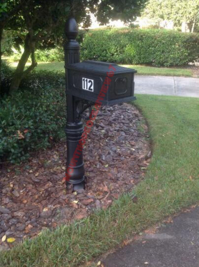 Large Curbside Residential Mailbox Post Mount Black Heavy ...