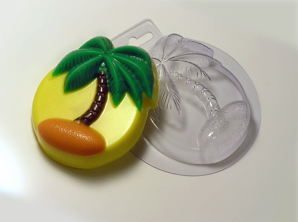 Palm tree plastic soap mold soap making mold mould ebay - What to do about mold ...