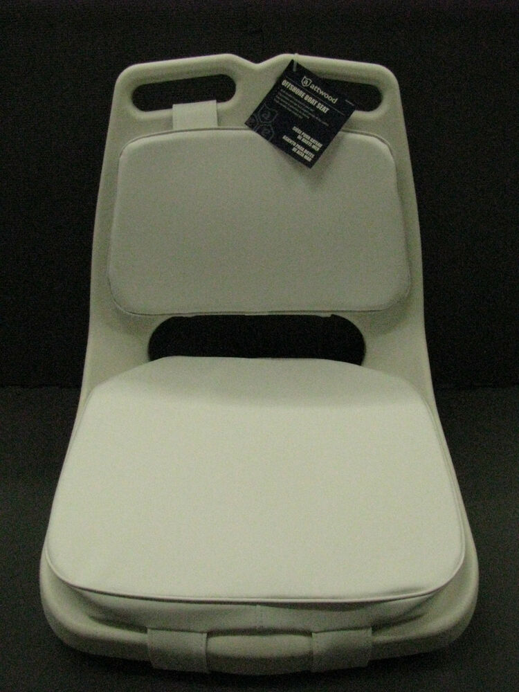 Attwood Marine Offshore Boat Seat With Pads 98455wh2 Ebay