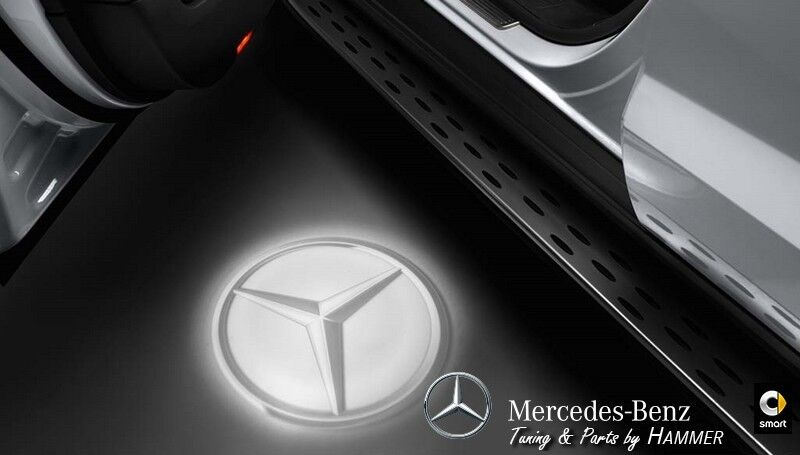Original mercedes benz led projector mercedes stars for for Mercedes benz door lights