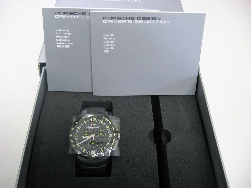 porsche design watch limited edition chronograph 918 spyder wap0700810d ebay. Black Bedroom Furniture Sets. Home Design Ideas
