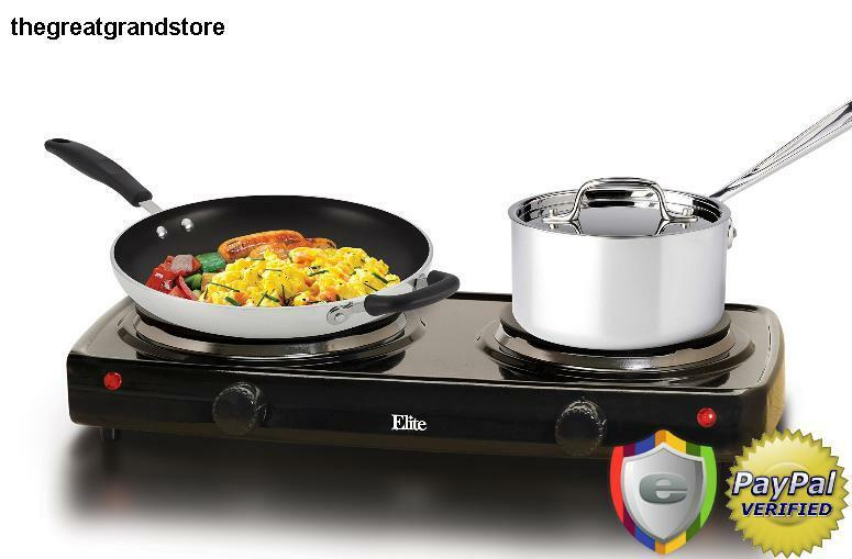 Electric Portable Cooktop Double Stove Hot Plate Dual