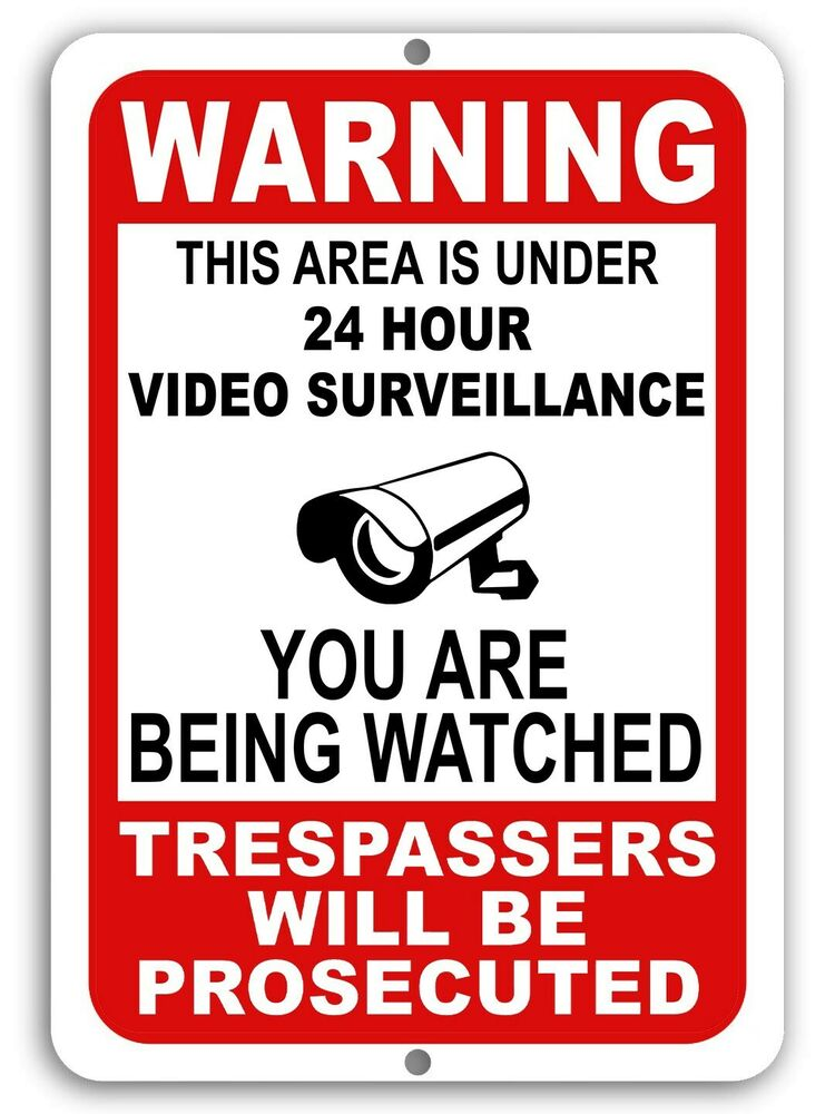 this property under video surveillance sign - 800×800