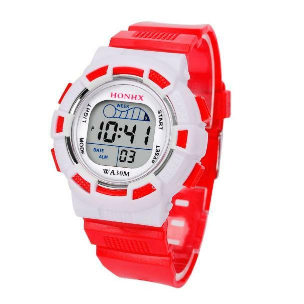 new waterproof children boys digital led sports