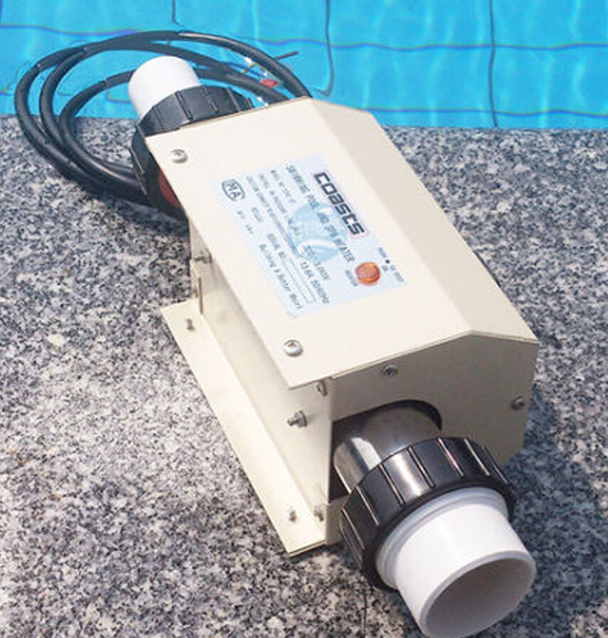 220v new swimming pool and spa heater electric heating thermostat 2kw ebay for Intex 3kw electric swimming pool heater