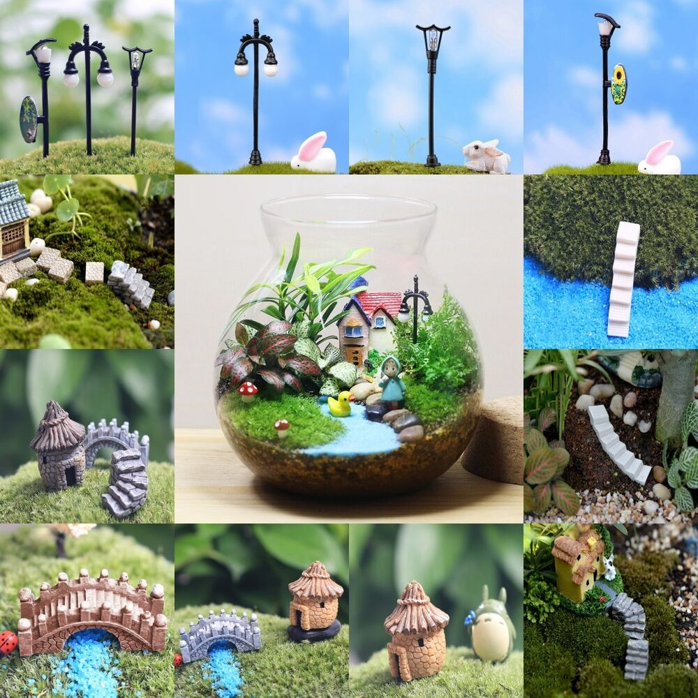 Garden ornament miniature figurine resin craft plant pots for Art and craft pot decoration