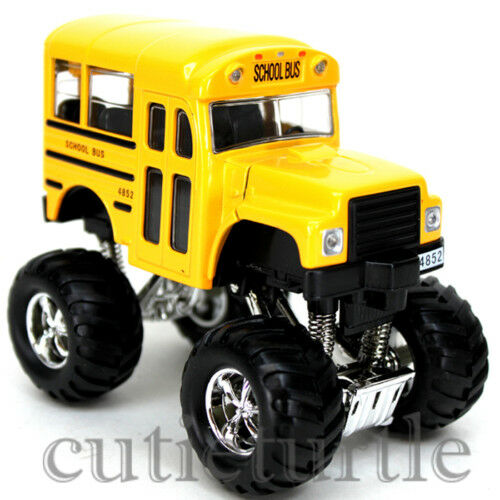 big foot monster short school bus truck 4x4 4 yellow ebay. Black Bedroom Furniture Sets. Home Design Ideas