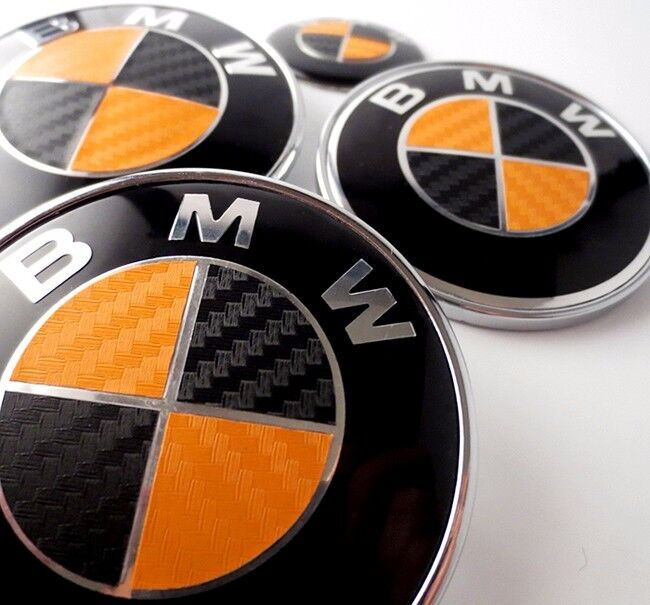 Black Amp Orange Carbon Fiber Complete Set Vinyl Sticker