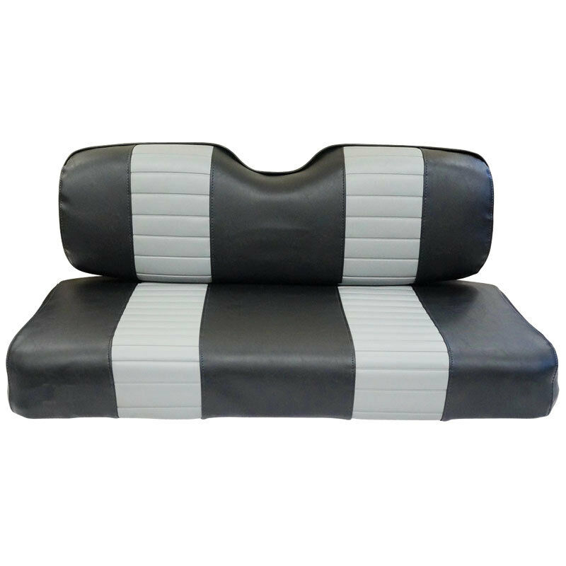 Golf Cart Seat Replacement : Black grey ezgo txt and rxv golf cart seat covers hand