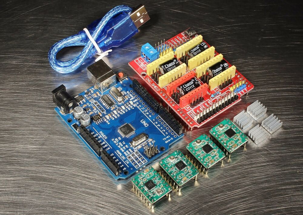 Cnc kit for arduino uno r w a drivers shield