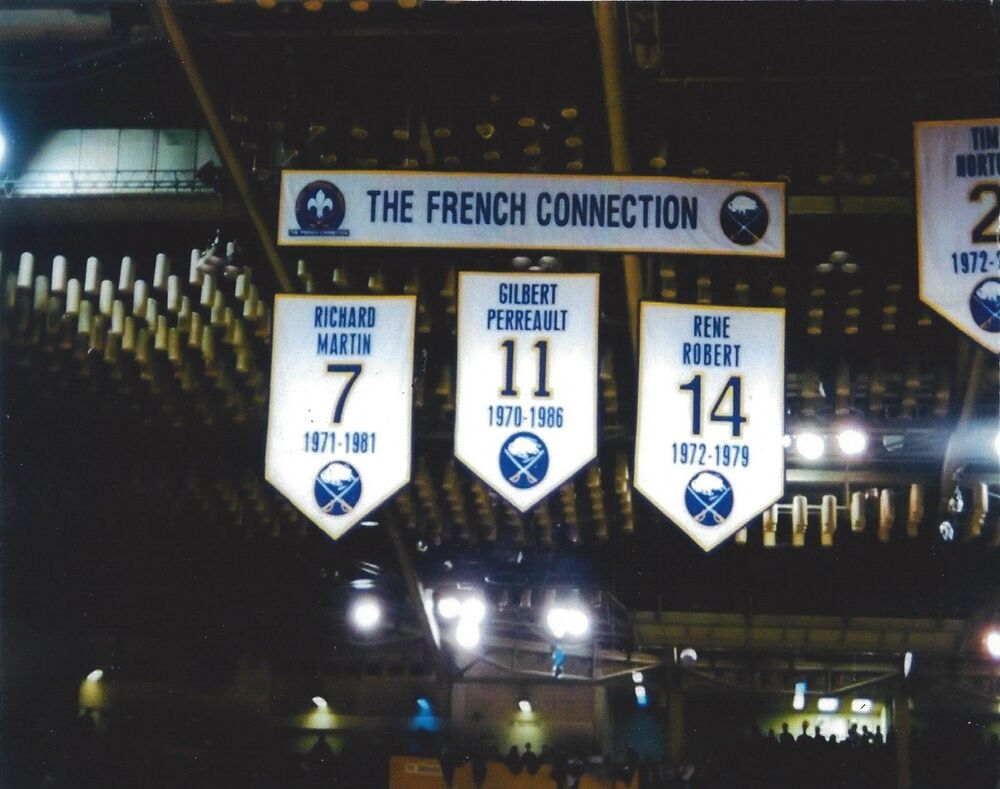 THE FRENCH CONNECTION BANNER 8X10 PHOTO BUFFALO SABRES ...  THE FRENCH CONN...