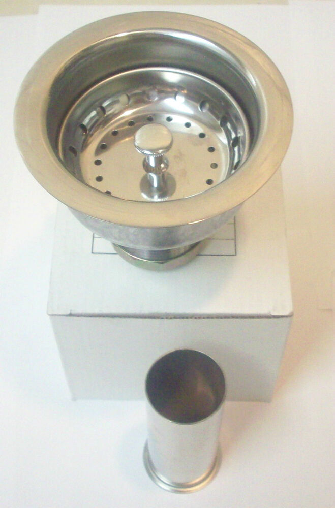 Heavy Duty Kitchen Sink Drain Strainer With Basket In